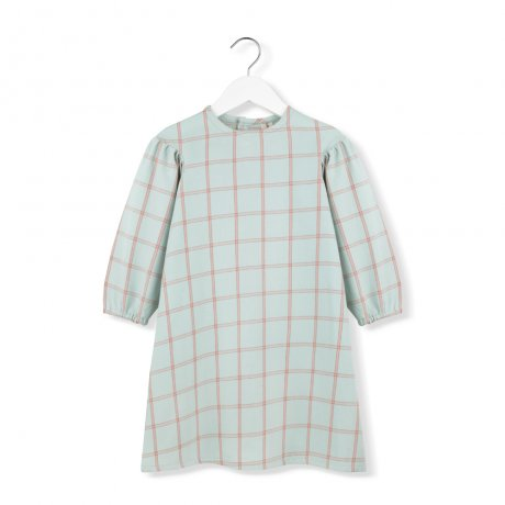 <img class='new_mark_img1' src='https://img.shop-pro.jp/img/new/icons8.gif' style='border:none;display:inline;margin:0px;padding:0px;width:auto;' />KIDS ON THE MOON / MINT PLAID PUFF DRESS / AW19/01A