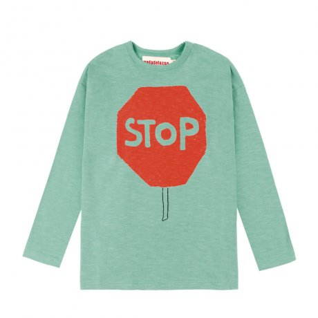 Nadadelazos / T-SHIRT STOP AND GO / LIGHT WATER GREEN / AW19 TSH.13.507 STO