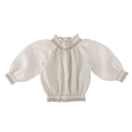 <img class='new_mark_img1' src='https://img.shop-pro.jp/img/new/icons8.gif' style='border:none;display:inline;margin:0px;padding:0px;width:auto;' />Liilu / Smocked Raglan Blouse / smock