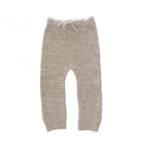 Liilu / Knit Trouser / Natural + Chocolate