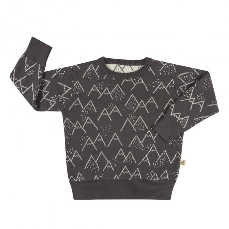 RED CARIBOU / Mountains knitted sweater / Little mountains / Turkish coffee / AW19-CV10-66