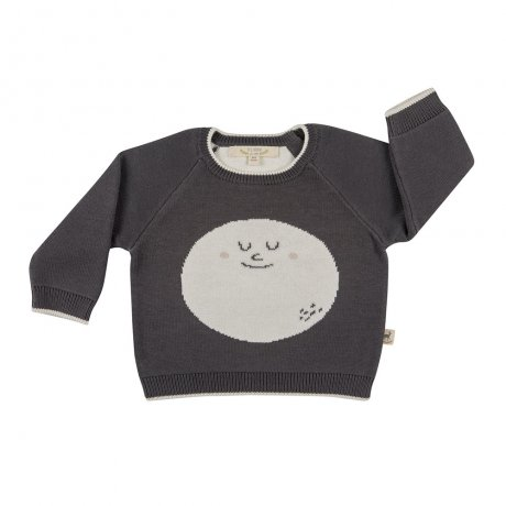 RED CARIBOU / Faces knitted sweater / Happy moon / Turkish coffee / AW19-CV11-68