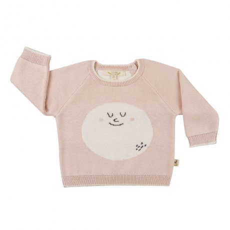 RED CARIBOU / Faces knitted sweater / Happy moon / Peach whip / AW19-CV11-67
