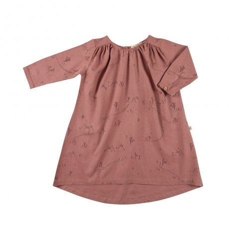 RED CARIBOU / Woven dress / Yeti tracks / Light mahogany (G.Dyed) / AW19-DS03-39