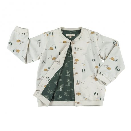 <img class='new_mark_img1' src='https://img.shop-pro.jp/img/new/icons8.gif' style='border:none;display:inline;margin:0px;padding:0px;width:auto;' />RED CARIBOU / Bomber jacket / Base camp / Whisper white (G.Dyed) / AW19-CV02-02