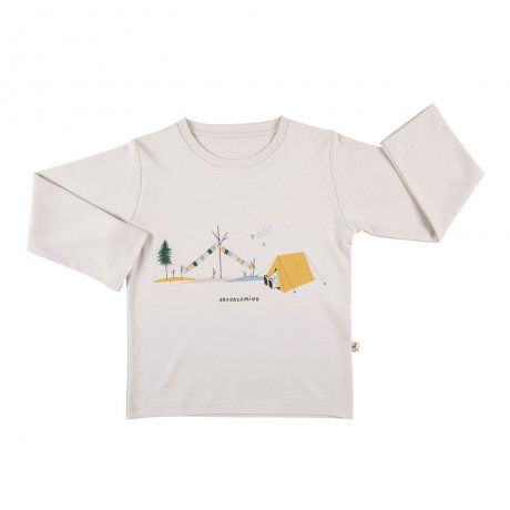 RED CARIBOU / Basic t-shirt / Day dreaming / White sand / AW19-TP04-45