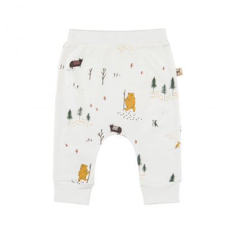 RED CARIBOU / Organic baggy pants / Up the mountain / Eco-white / AW19-BT01-27
