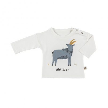 RED CARIBOU / Organic t-shirt / Mr. Blue / Eco-white / AW19-TP01-51