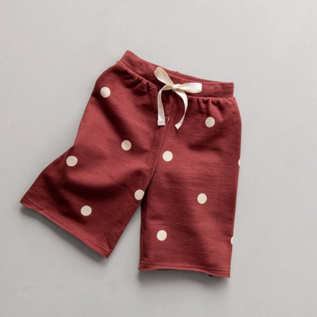 <img class='new_mark_img1' src='https://img.shop-pro.jp/img/new/icons8.gif' style='border:none;display:inline;margin:0px;padding:0px;width:auto;' />Organic Zoo / Dots Wide Leg Trousers Burgundy