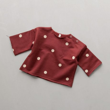 <img class='new_mark_img1' src='https://img.shop-pro.jp/img/new/icons8.gif' style='border:none;display:inline;margin:0px;padding:0px;width:auto;' />Organic Zoo / Dots Layer Burgundy Sweatshirt
