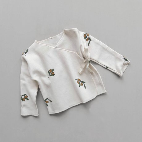 <img class='new_mark_img1' src='https://img.shop-pro.jp/img/new/icons8.gif' style='border:none;display:inline;margin:0px;padding:0px;width:auto;' />Organic Zoo / Olive Garden Wrap Top
