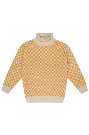 REPOSE AMS / KNIT SWEATER / YELLOW BB CHECK