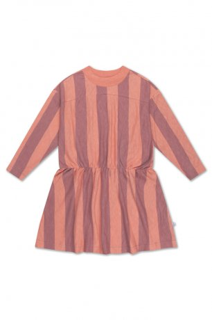REPOSE AMS / SKATER DRESS / PEACHY BLOCK STRIPE