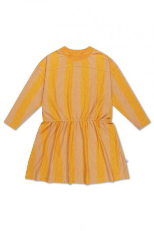 REPOSE AMS / SKATER DRESS / GOLDEN BLOCK STRIPE