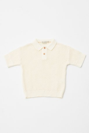 THE CAMPAMENTO / OPEN KNITTED POLO / TC-SS20-19