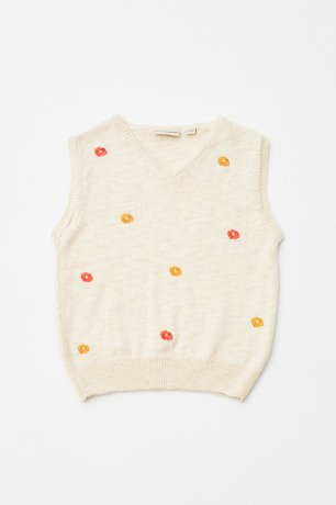 THE CAMPAMENTO / FLOWERS VEST / TC-SS20-17