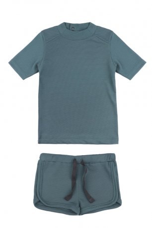 Phil&Phae / UV top + swim shorts / Balsam blue