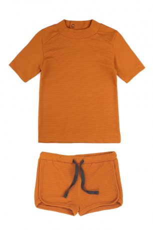 Phil&Phae / UV top + swim shorts / tangerine