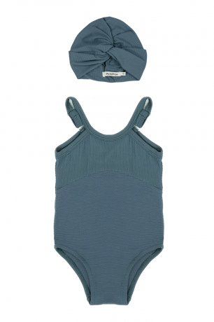Phil&Phae / UV bonnet + Swimsuit / Balsam blue