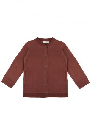Phil&Phae / Sweat cardigan slub / 201113 / Russet