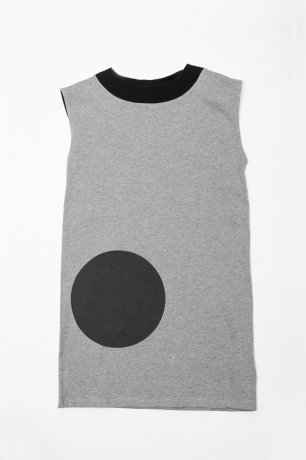 <img class='new_mark_img1' src='https://img.shop-pro.jp/img/new/icons8.gif' style='border:none;display:inline;margin:0px;padding:0px;width:auto;' />MOTORETA / AGUADULCE DRESS / Grey with black dot / SS200025(Adult)
