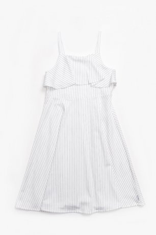 MOTORETA / ISLANTILLA DRESS / White with black stripes / SS200012(Adult)