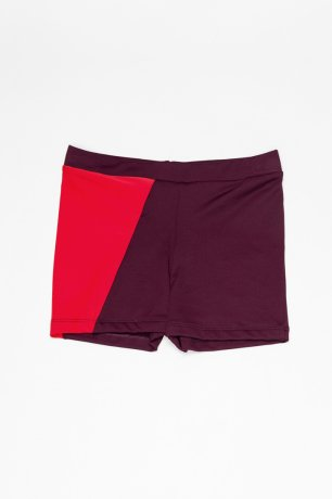 MOTORETA / SWIM TRUNKS / Burgundy and red / SS200136