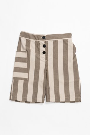 <img class='new_mark_img1' src='https://img.shop-pro.jp/img/new/icons8.gif' style='border:none;display:inline;margin:0px;padding:0px;width:auto;' />MOTORETA / POCKET PANTS / Beige & maroon stripes / SS200119
