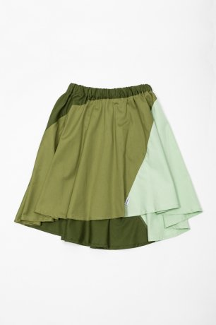 MOTORETA / STRIPES SKIRT / Green and dark green / SS200088