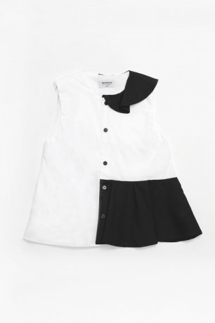 <img class='new_mark_img1' src='https://img.shop-pro.jp/img/new/icons8.gif' style='border:none;display:inline;margin:0px;padding:0px;width:auto;' />MOTORETA / ROMA BLOUSE / White & black / SS200037