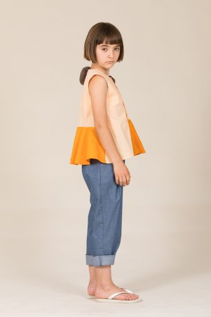 MOTORETA / ROMA BLOUSE / Pink, orange & grey / SS200036
