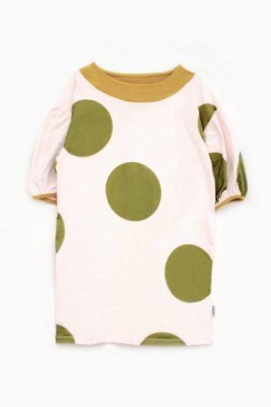 MOTORETA / ALBA DRESS / Polka dot pink & green / SS200030