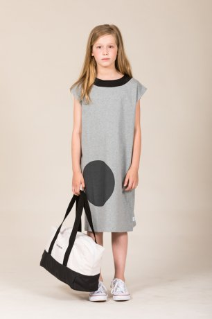 MOTORETA / AGUADULCE DRESS / Grey with black dot / SS200025