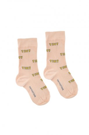 "<img class='new_mark_img1' src='https://img.shop-pro.jp/img/new/icons8.gif' style='border:none;display:inline;margin:0px;padding:0px;width:auto;' />tinycottons / ""TINY"" MEDIUM SOCKS / light nude yellow / SS20-301"
