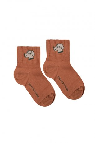 """<img class='new_mark_img1' src='https://img.shop-pro.jp/img/new/icons8.gif' style='border:none;display:inline;margin:0px;padding:0px;width:auto;' />tinycottons / """"DOG"""" QUARTER SOCKS / cinnamon cappuccino / SS20-287"""