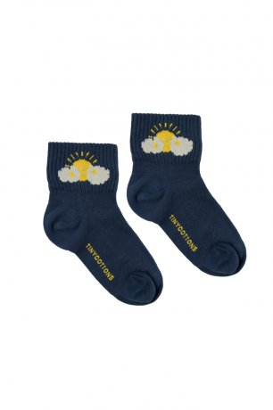 "<img class='new_mark_img1' src='https://img.shop-pro.jp/img/new/icons8.gif' style='border:none;display:inline;margin:0px;padding:0px;width:auto;' />tinycottons / ""SLEEPY SUN"" QUARTER SOCKS / light navy yellow / SS20-285"