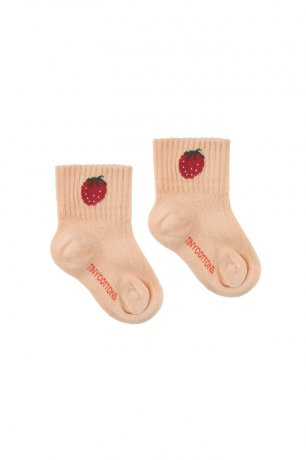 "<img class='new_mark_img1' src='https://img.shop-pro.jp/img/new/icons8.gif' style='border:none;display:inline;margin:0px;padding:0px;width:auto;' />tinycottons / ""STRAWBERRY"" QUARTER SOCKS / light nude burgundy / SS20-290"