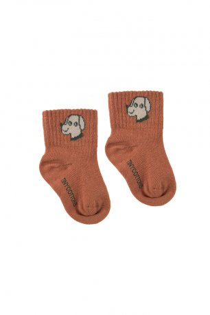 """<img class='new_mark_img1' src='https://img.shop-pro.jp/img/new/icons8.gif' style='border:none;display:inline;margin:0px;padding:0px;width:auto;' />tinycottons / """"DOG"""" QUARTER SOCKS / cinnamon cappuccino / SS20-286"""