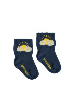"<img class='new_mark_img1' src='https://img.shop-pro.jp/img/new/icons8.gif' style='border:none;display:inline;margin:0px;padding:0px;width:auto;' />tinycottons / ""SLEEPY SUN"" QUARTER SOCKS / light navy yellow / SS20-284"