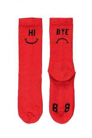 <img class='new_mark_img1' src='https://img.shop-pro.jp/img/new/icons8.gif' style='border:none;display:inline;margin:0px;padding:0px;width:auto;' />BEAU LOVES / Midi Socks / Hi/Bye / Red