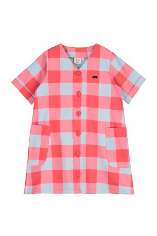 <img class='new_mark_img1' src='https://img.shop-pro.jp/img/new/icons8.gif' style='border:none;display:inline;margin:0px;padding:0px;width:auto;' />BEAU LOVES / Button Front Dress / Gingham / Red