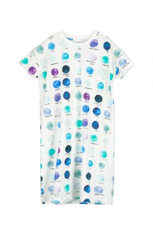<img class='new_mark_img1' src='https://img.shop-pro.jp/img/new/icons8.gif' style='border:none;display:inline;margin:0px;padding:0px;width:auto;' />BEAU LOVES / T-shirt Dress / Paint Pallet Dots / Natural