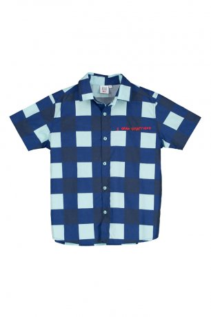 <img class='new_mark_img1' src='https://img.shop-pro.jp/img/new/icons8.gif' style='border:none;display:inline;margin:0px;padding:0px;width:auto;' />BEAU LOVES / Short Sleeve Shirt / Gingham / Navy