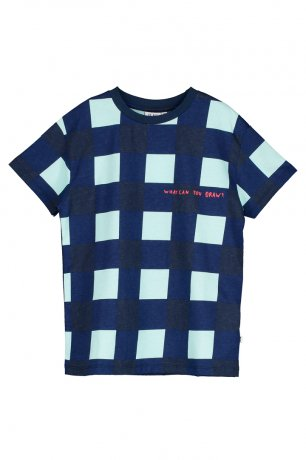 <img class='new_mark_img1' src='https://img.shop-pro.jp/img/new/icons8.gif' style='border:none;display:inline;margin:0px;padding:0px;width:auto;' />BEAU LOVES / Short Sleeve T-shirt / Gingham / Navy