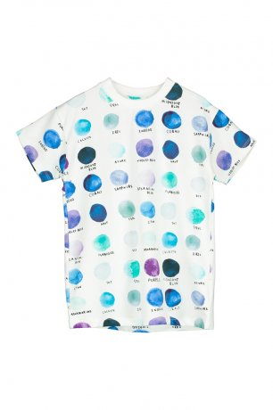 <img class='new_mark_img1' src='https://img.shop-pro.jp/img/new/icons8.gif' style='border:none;display:inline;margin:0px;padding:0px;width:auto;' />BEAU LOVES / Short Sleeve T-shirt / Paint Pallet Dots / Natural