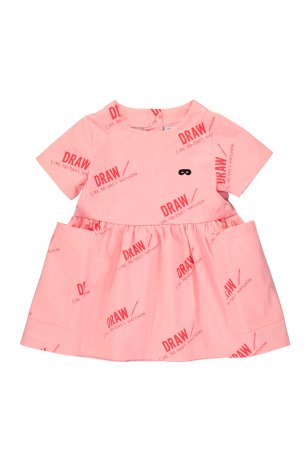 BEAU LOVES / Baby Dress / Draw / Washed Pink