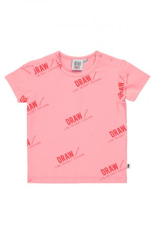 BEAU LOVES / Baby Short Sleeve T-shirt / Draw / Pepto Pink