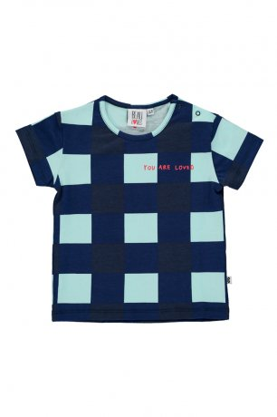 <img class='new_mark_img1' src='https://img.shop-pro.jp/img/new/icons8.gif' style='border:none;display:inline;margin:0px;padding:0px;width:auto;' />BEAU LOVES / Baby Short Sleeve T-shirt / Gingham / Navy