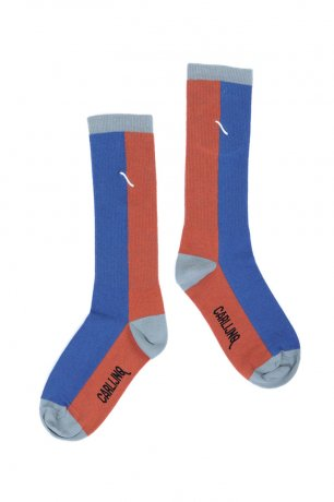 <img class='new_mark_img1' src='https://img.shop-pro.jp/img/new/icons8.gif' style='border:none;display:inline;margin:0px;padding:0px;width:auto;' />CarlijnQ / Knee socks / brown / blue / KN162