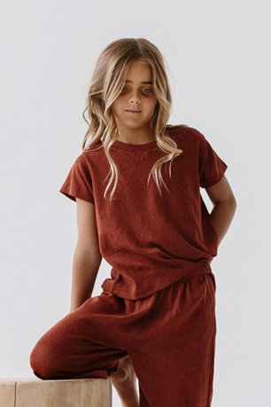 DAUGHTER / LOUNGE TEE / POPPY LINEN KNIT